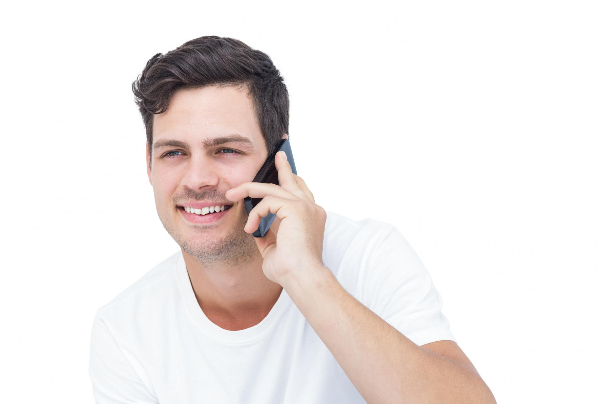 man talking to his phone